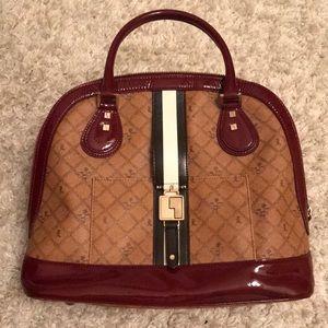 L.a.m.b. Montego bowler handbag purse satchel